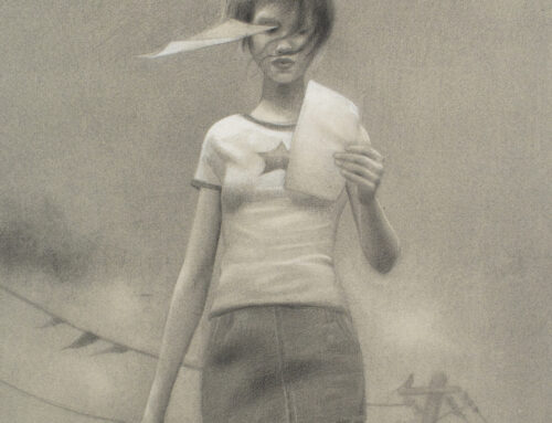 Vacaciones, 50×40 cm, Grafito sobre papel