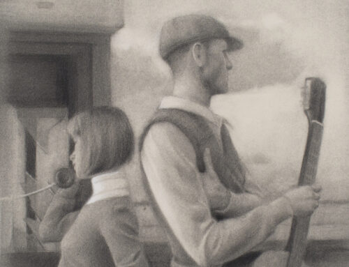 Vacío (boceto) 40×40 cm, Graphite on paper